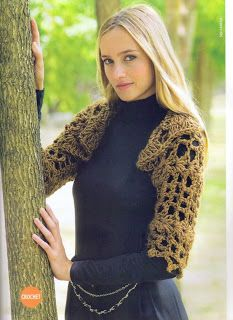 Crochet X-Stitch Shrug by Deanna Young Crocheting Pattern