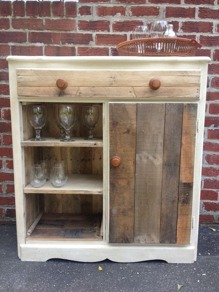 Upcycled cupboard my little garden pinterest for Upcycled kitchen cabinets