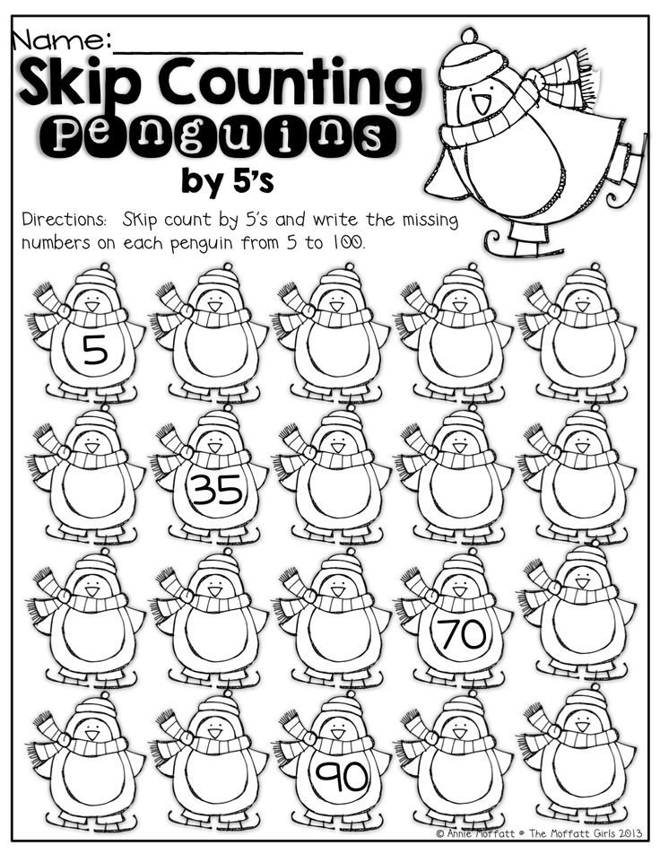 Skip Counting Penguins! (count by 5's) | KinderLand Collaborative ...