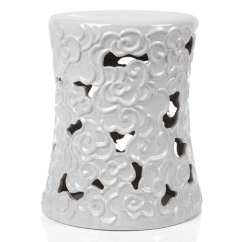 Cloud Stool - White from Z Gallerie