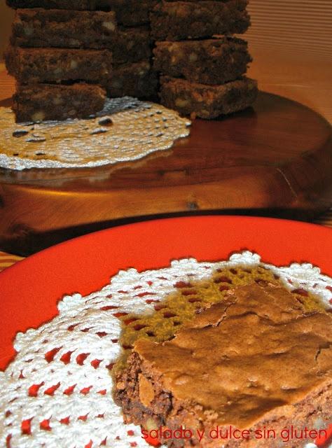 Brownie de chocolate y quinoa | gluten-free | Pinterest