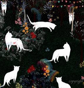 "Art & Ghost Illustration  ""Cat Heaven"""