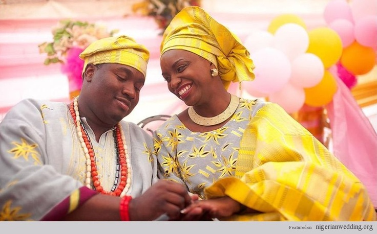 nigerian traditional engagement wedding colors aso oke color matching