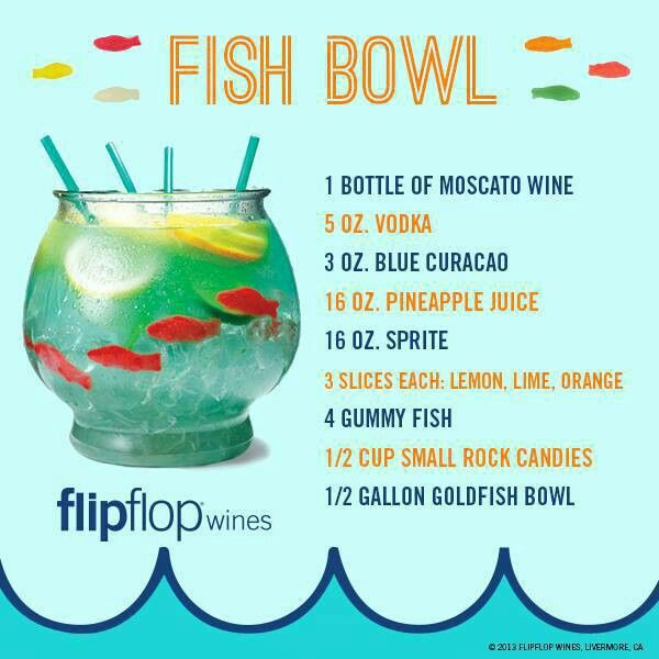 Fish bowl recipe drinks pinterest for Fish bowls drink