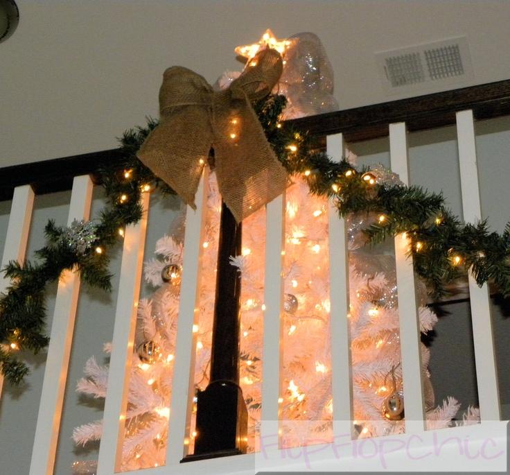 Balcony Christmas Decor Burlap Holidays Pinterest
