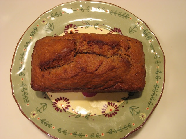 Vegetarian Recipes - She's Vegging Out: Bourbon Banana Bread
