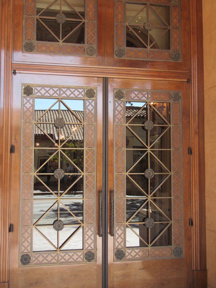 Art Deco Vintage Double Doors Shut The Front Door And Gate Pint