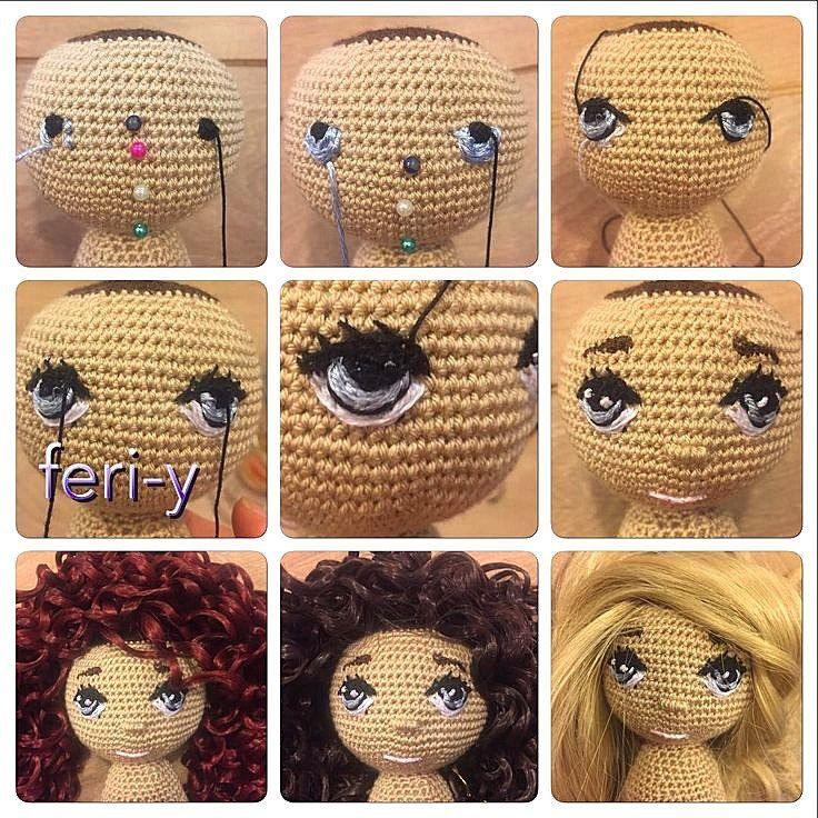 Глазки для вязаных кукол своими руками 46