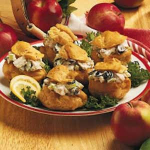 Chicken Salad Puffs... recommend use leftover chicken to make it ...
