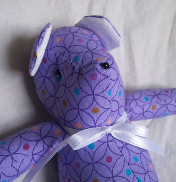 Olympia the Little Teddy Bear by ellemardesigns on Etsy, $10.00
