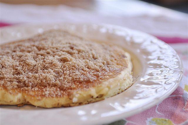 Cinnamon Streusel Pancakes @yourhomebasedmom.com #pancakes,#breakfast ...