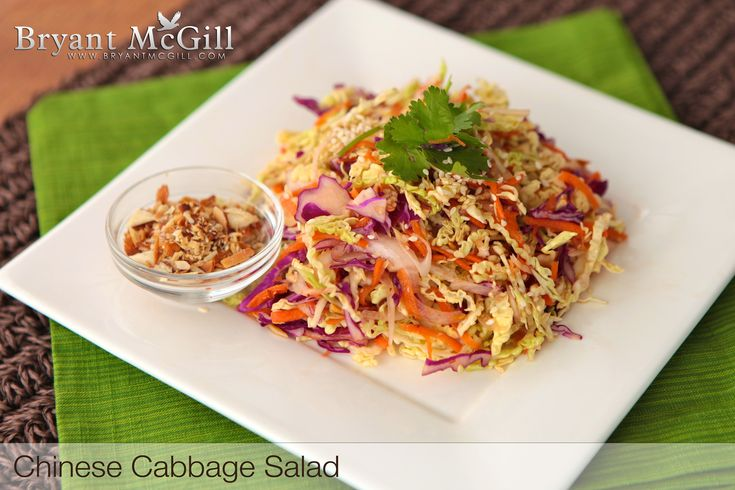 Chinese Cabbage Salad and peanut sauce | Eat to Live Recipes - 6 Week ...