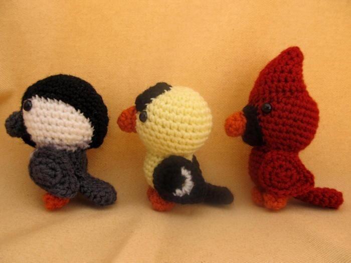 Backyard Birds Amigurumi Crochet Pattern Crochet Stuffed ...