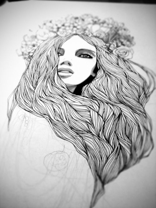#drawing #flowers #headband #girl | Art culture and ...