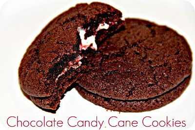 Chocolate Candy Cane Cookies | Christmas | Pinterest