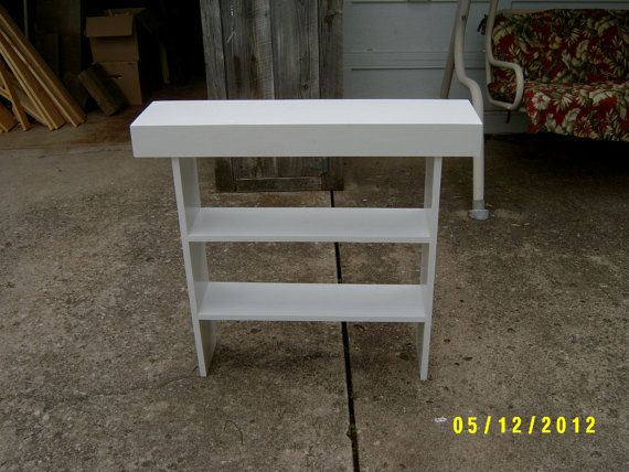 Wooden Bench Tall Bench Console Narrow Entryway Table Recycled Materi
