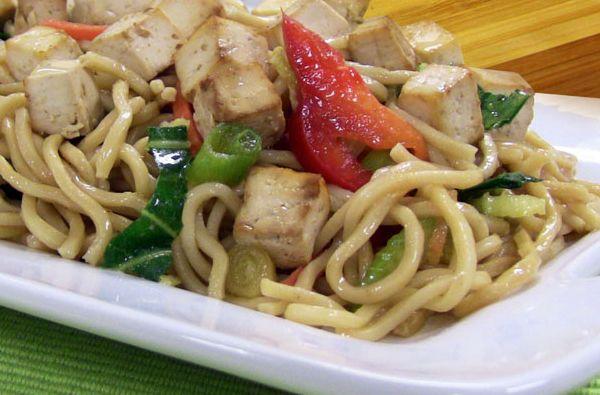 Cold Noodle Asian Tofu Salad | Nasoya | Vegan Recipes | Pinterest