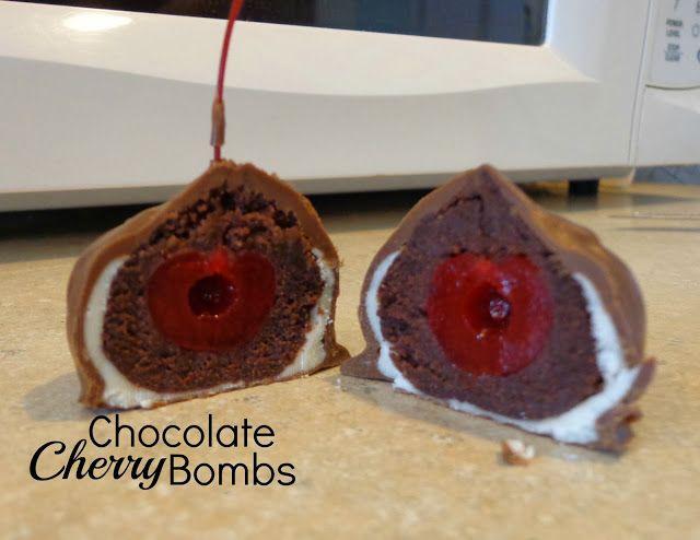 Chocolate Cherry Bombs   Sweet Treats   Pinterest