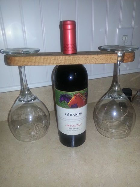 glass wine bottle gift idea gift ideas pinterest