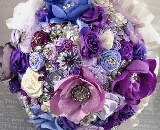 Fabric Flowers, Purple