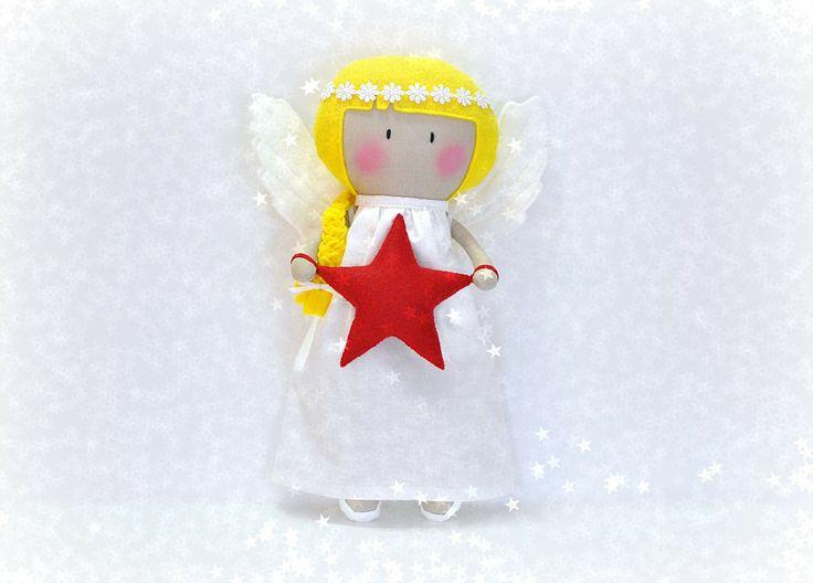"""Мой Тини-Крошечный Рождественский Ангел Кукла ® / 11 """"ручной кукол от Кука вас Некоторые Лапша"""