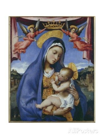 This painting is on wood and is hanging in The Museo Correr, Venice, Italy.  Actually got to see while I was in Venice.