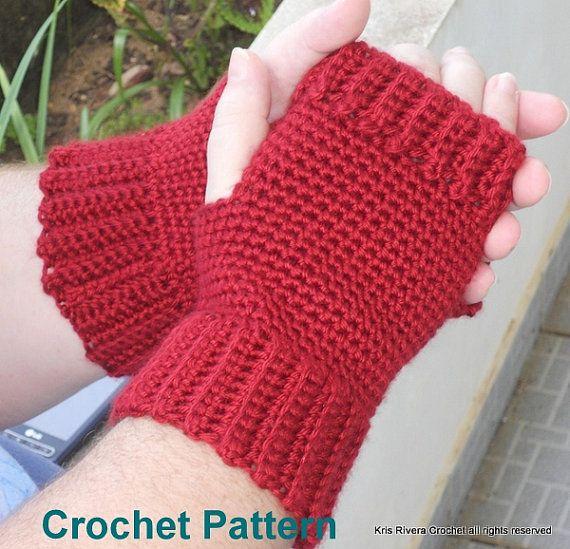 Texting Mittens Crochet Pattern