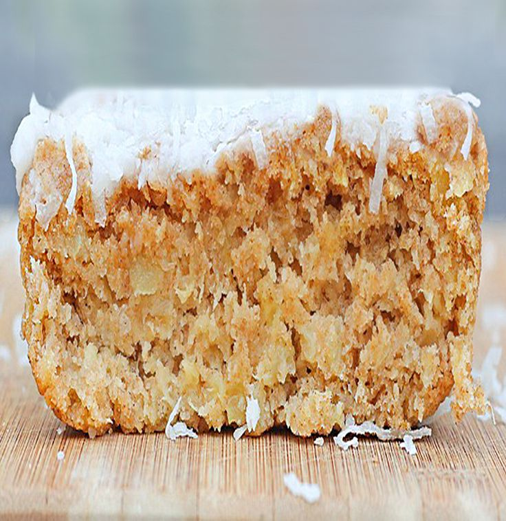 Coconut Breakfast Cake- just 50 calories per slice.