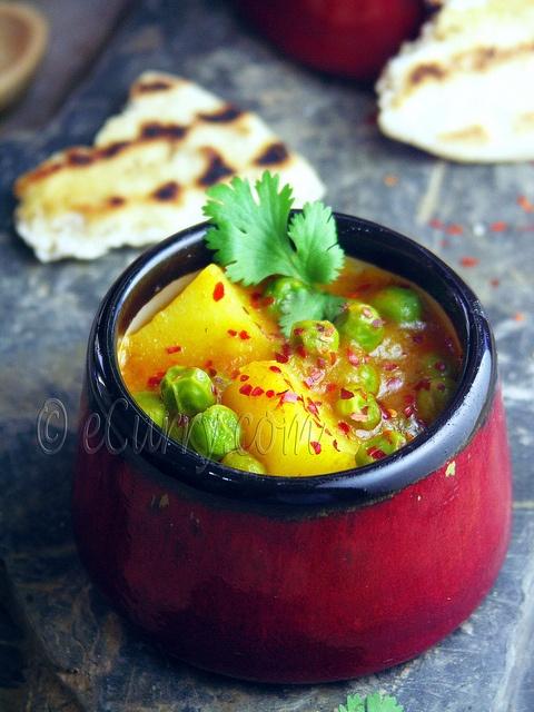 Aloo Matar/Peas and Potato Curry | Eatery | Pinterest