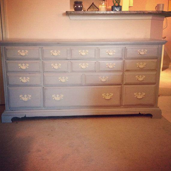 Pais grey dresser shabby chic furniture chalk painted - Gray shabby chic furniture ...