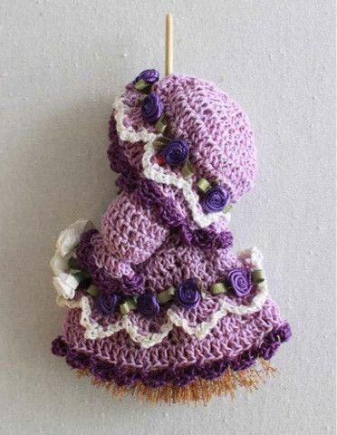 Mini Broom Dolls 1 Crochet Pattern Leaflet