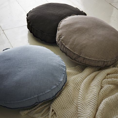 Round Gusset Pillow west elm Products I Love Pinterest