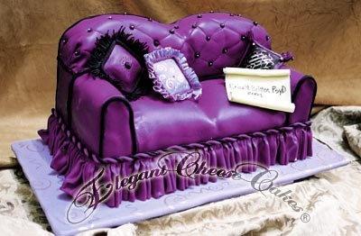 Sofa Cake Purple Passion Pinterest