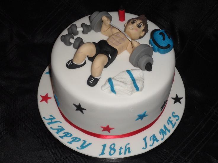 weightlifter cake ideas
