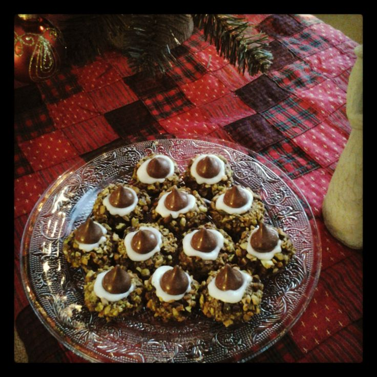Cherry Cordial Chocolate Thumbprint Cookies. I got the recipe off of a ...