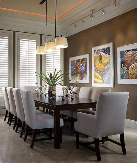 modern dining area with cove lighting dining tables chair ideas