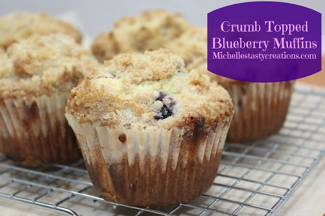 Crumb Topped Blueberry Muffins | food and cooking | Pinterest