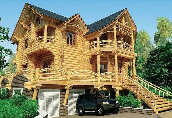 Large Log Cabin Home Home Home Home Pinterest