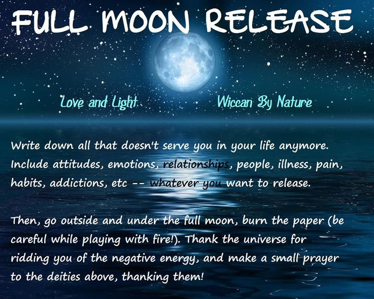 Full Moon Ritual Under The Light Of The Moon Pinterest