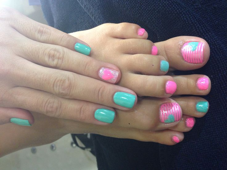 Gel polish on my nails and toes :-) | Nail La La | Pinterest