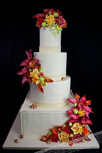 Fall wedding cake by Design Cakes, via Flickr