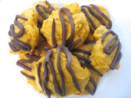 Chocolate Glazed Pumpkin Cookies