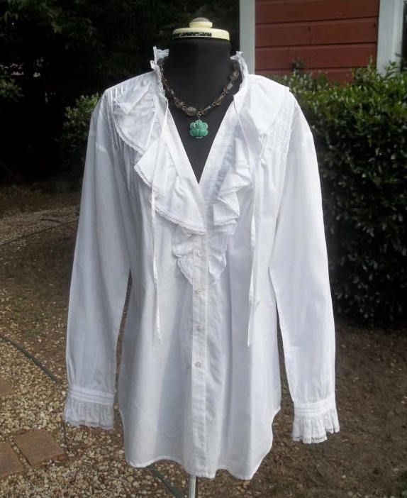 White Peasant Style Blouse 15