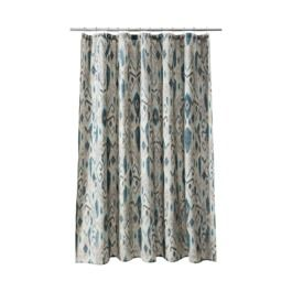 Love the blue and gray 20 threshold ikat mix shower curtain