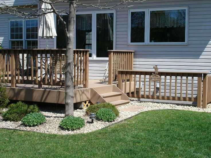 Landscaping Around Deck Outside House Pinterest