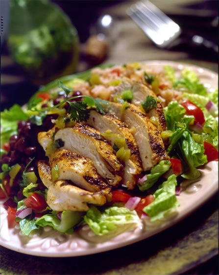 Honey Mustard Grilled Chicken Salad Haven't made this, but it sounds ...