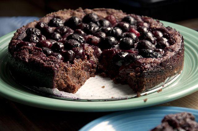 vegan chocolate-cherry cake (note to self...add more chocolate!)