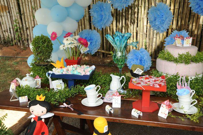 Festa de 1 ano da minha Alice  12012014 Local Pet Zoo Vestido de