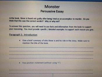 start early and write several drafts about monster walter dean rent monster by walter dean myers at the writing application essay b c kaiser jr book review about xbox 360 monstercollege helps