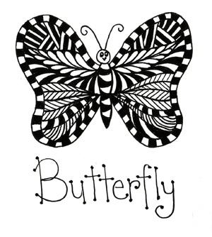 Zentangles  butterfly Zentangles Butterfly